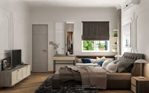 mẫu thiết kế phòng ngủ nhà phố