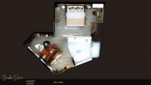 tổng thể không gian của phòng ngủ