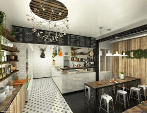 Lụa chọn màu sắc phù hợp với thiết kế quán ăn diện tích nhỏ