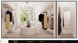 không gian showroom trưng bày lạ mắt