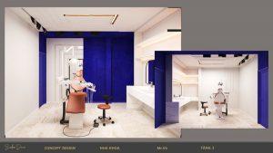 thiết kế nội thất nha khoa độc đáo