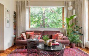 phòng khách theo phong cách á đông