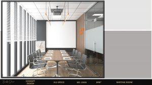 Phòng họp được bố trí nơi đầy ánh sáng