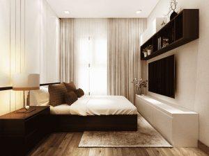 mẫu thiết kế phòng ngủ ấm áp nhẹ nhàng