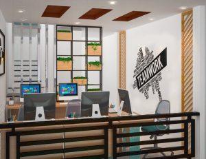Văn phòng làm việc nhân viên mang hướng mở, tăng sự tương tác cao