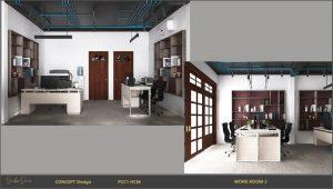 trang trí nội thất văn phòng làm việc