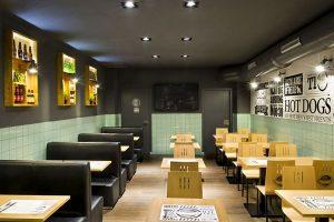 Thiết kế nội thất không gian sao cho hợp lí với 1 quán ăn có diện tích nhỏ