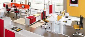 môi trường làm việc với nội thất hiện đại tối ưu