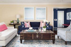 thiết kế phòng khách đầy màu sắc