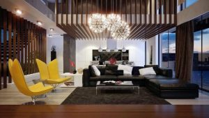 thiết kế phòng khách đầy sang trọng