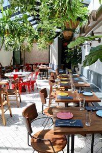 Thiết kế không gian mở cho quán ăn