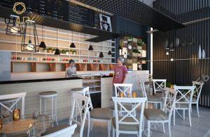 thiết kế quán cafe 60m2 đúng chuẩn