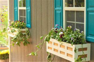 những tiểu cảnh hoa hèo gắn bên cửa sổ sẽ giúp ngôi nhà có sức sống hơn