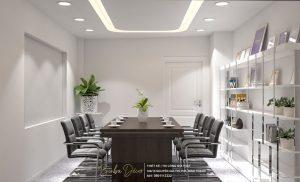 Màu trắng làm chủ đạo cho toàn bộ văn phòng tạo cảm giác thân thiện và đẳng cấp