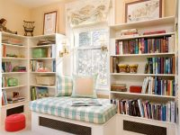 Căn phòng tông màu kem giúp phòng sáng và dịu mắt