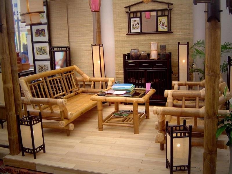 thiết kế quán cafe bằng tre