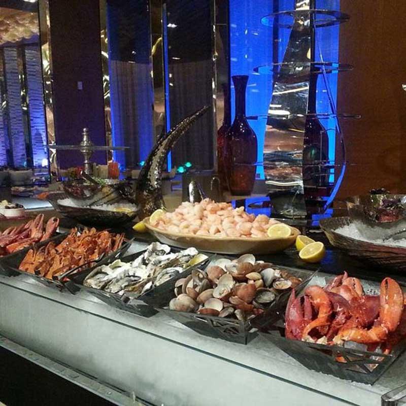 quầy buffet hải sản
