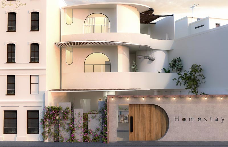 thiết kế kiến trúc homestay Windy home