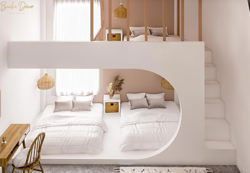 thiết kế phòng dorm homestay