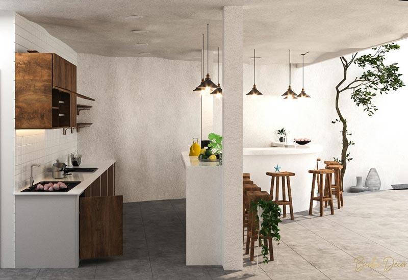 thiết kế phòng bếp tập thể