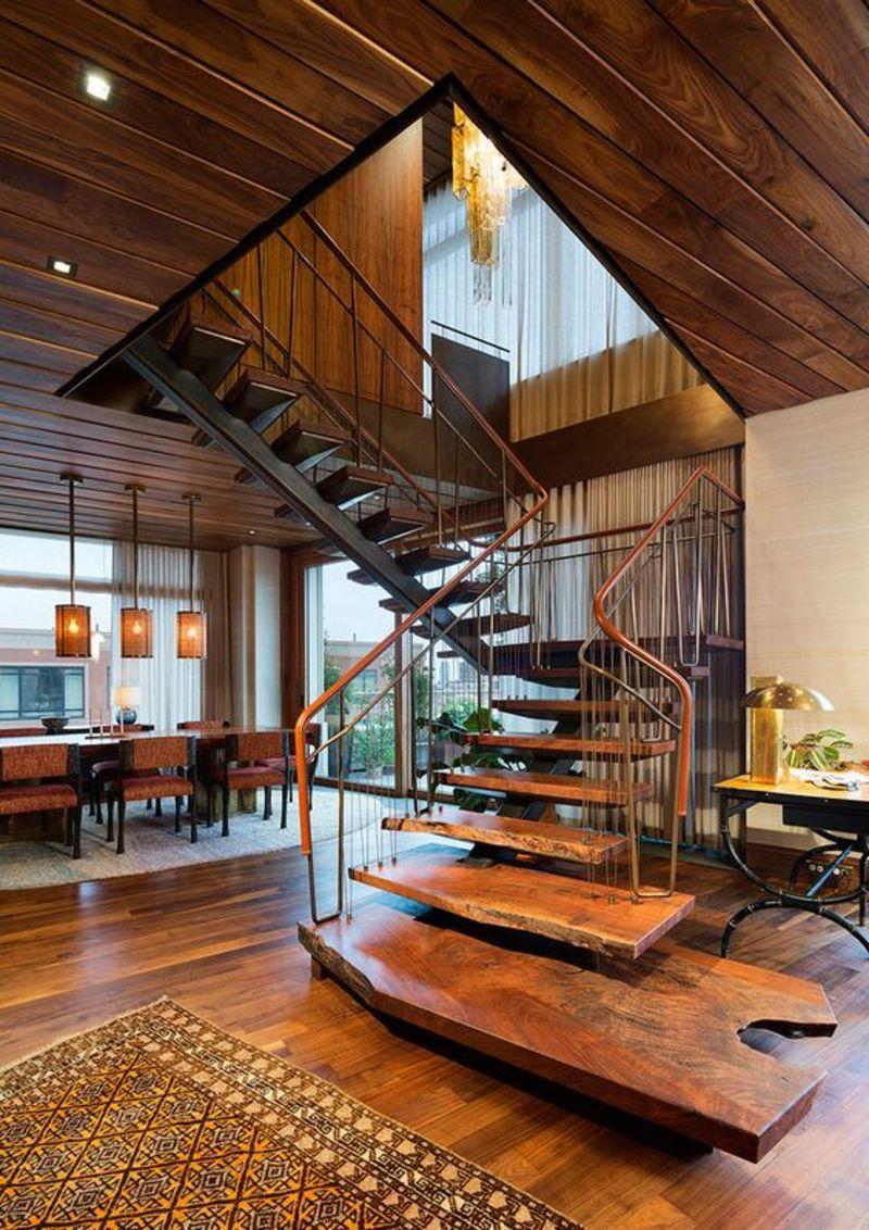 Cầu thang gỗ có tính bền đẹp với thời gian