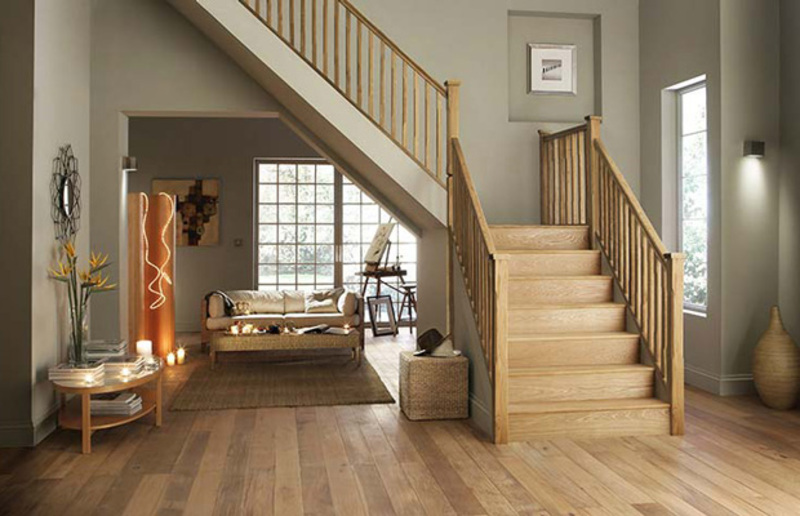 Cầu thang làm bằng gỗ công nghiệp