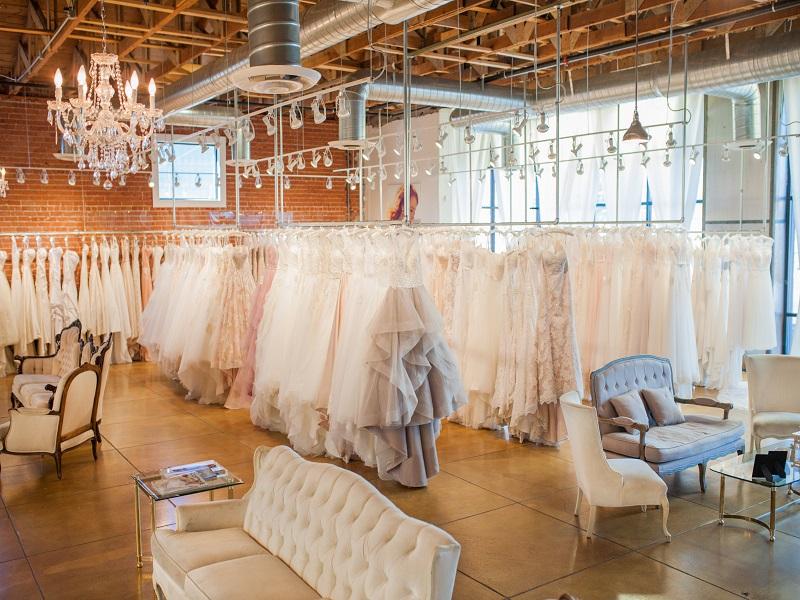 thiết kế showroom áo cưới đẹp như mơ