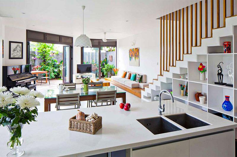 Vị trí hòng bếp và phòng phòng khách trong phong  thuỷ nhà ở
