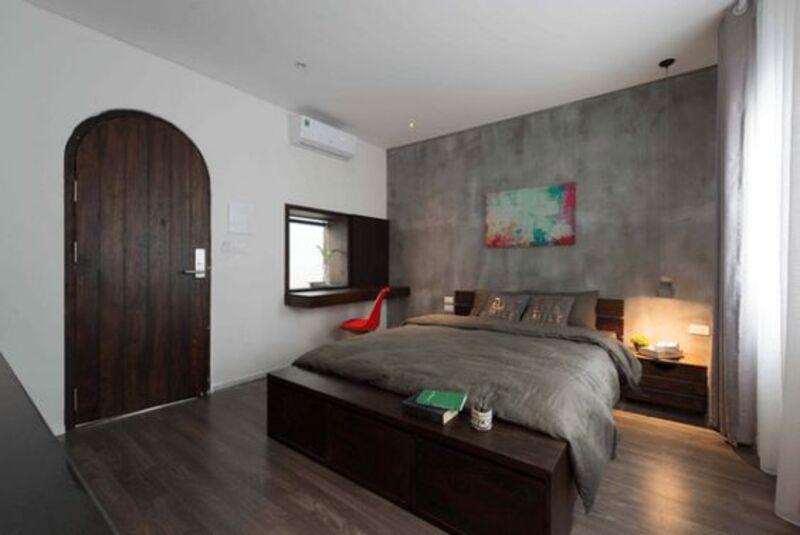 Đặt giường ở vị trí chếch cửa để tránh phạm phải phong thuỷ