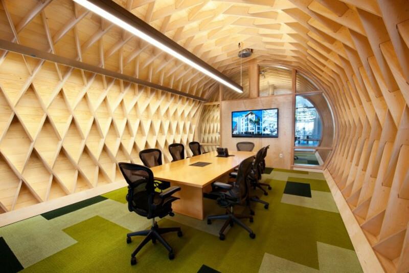 Không gian phòng họp được thiết kế khá độc đáo, góp phần kích thích tính sáng tạo của nhân viên