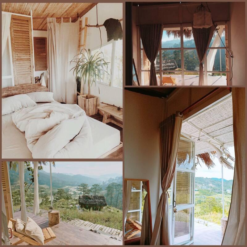 Phòng nghỉ của Homestay đucợ thiết kế đơn giản nhưng bắt mắt, mang đến những trải nghiệm đẹp cho du khách khi ghé thăm nơi đây