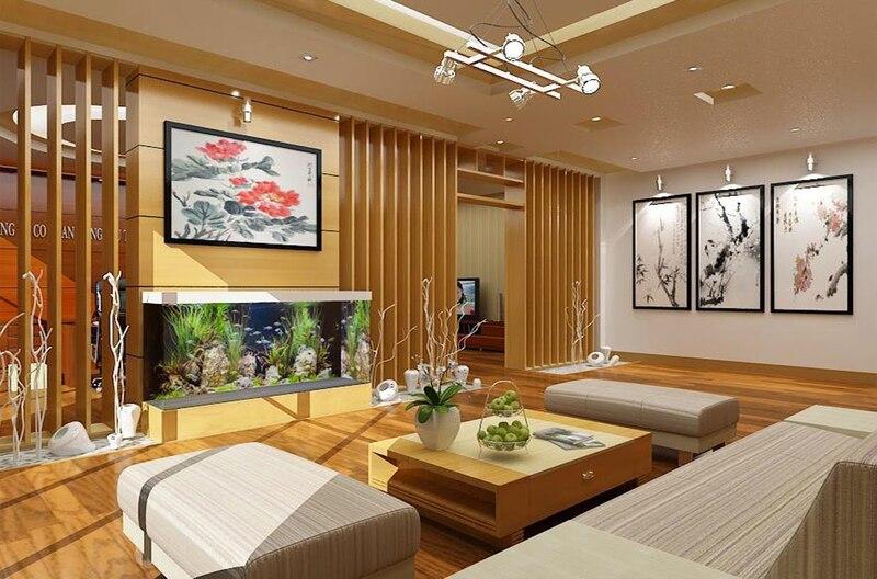 Gỗ tự nhiên chắc chắn, bền, đẹp thường được sử dụng để thiết kế nội thất